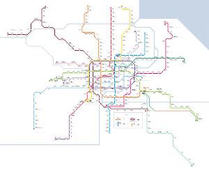 U-Bahn Shanghai - Plan & Karte