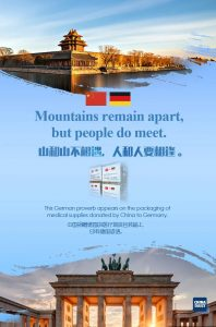 COVID 19 Coronavirus China Hilfe Deutschland